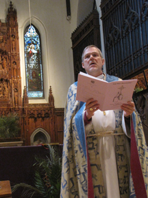Bishop Stephen Lane at the Chrism Mass, March 31, 2010, Cathedral of St. Luke, Portland, Maine